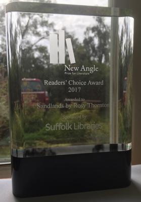 Close-up of award